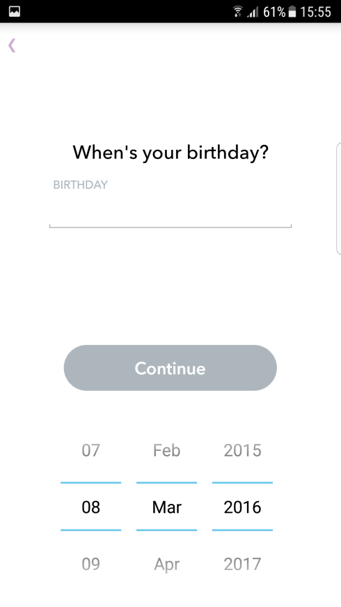 Snapchat datum