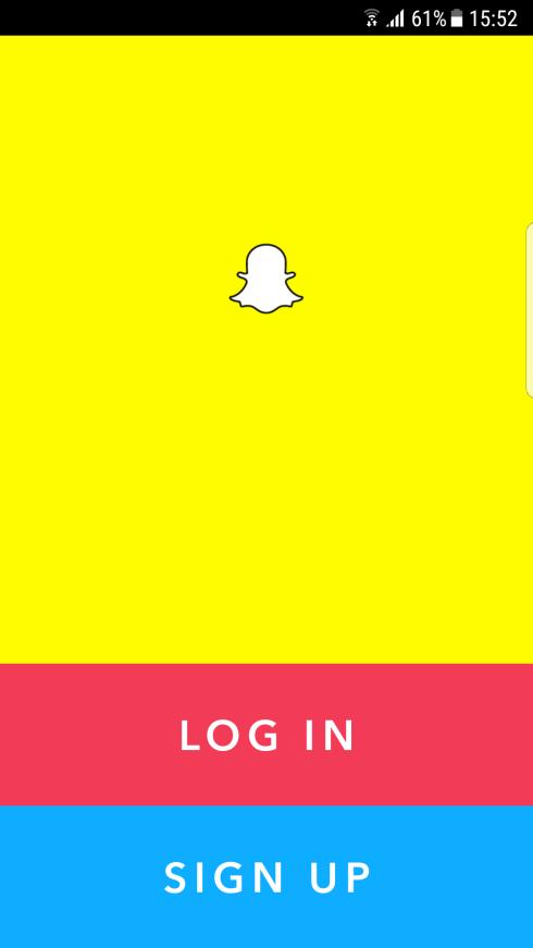 Snapchat prijava