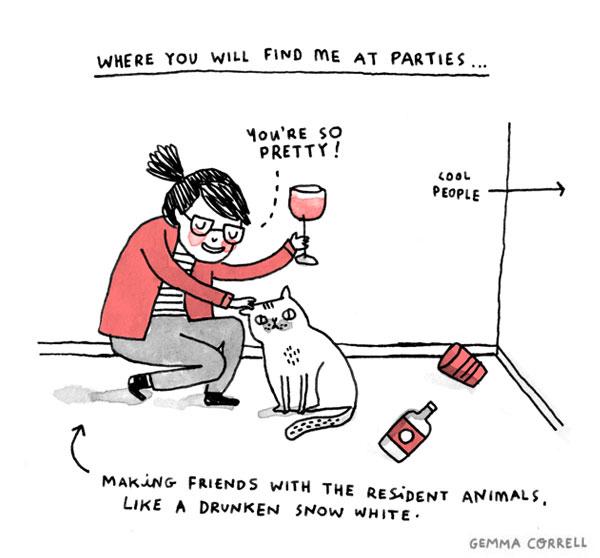 introvert na zabavi