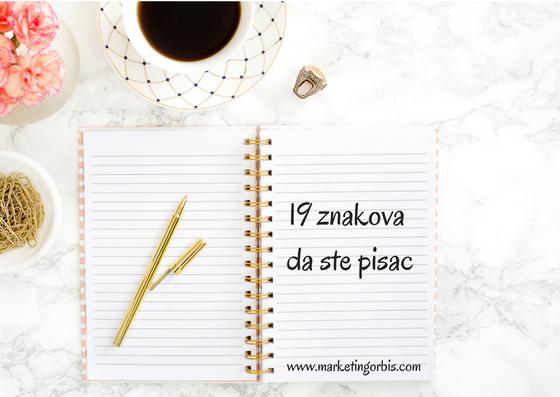 19 znakova da ste pisac