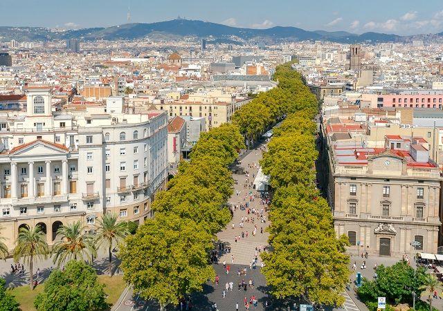 Barcelona. Boulevard Ramblas.